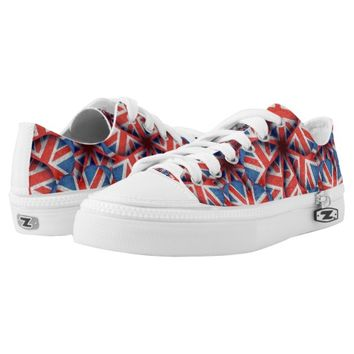 England Pattern Print Low Top Shoes Printed Shoes