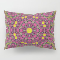 Butterflies  roses in gold spreading calm and love Pillow Sham by Pepita Selles