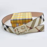 DCCKHI2 Perfect BURBERRY Woman Men Fashion Smooth Buckle Belt Leather Belt Tagre-