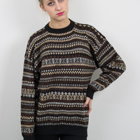 Vintage Neutral Tribal Nordic Sweater