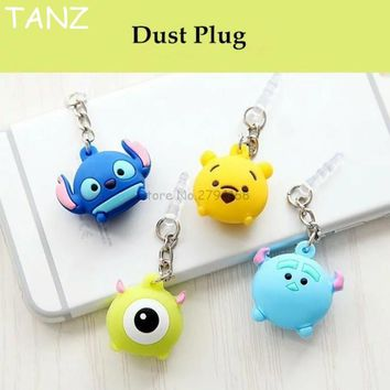 Sell Valuable Cute Big eyes Phone Anti Dust Plug Cell Phone Accessories For Iphone 4 5 SE 6 7 6S plus 3.5mm Earphone Jack Plug