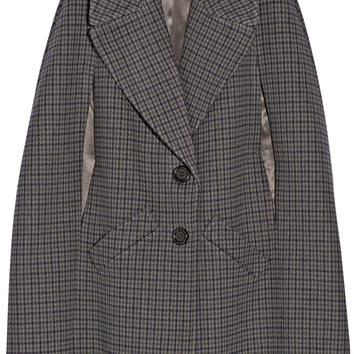 Michael Kors Collection - Houndstooth melton wool cape