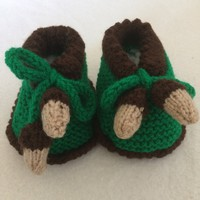 "Crochet shoes for baby 0-3 months or 16""-18"" Waldorf doll and American girl doll"
