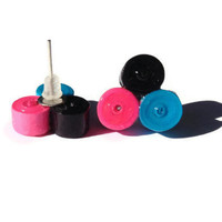 Blue, Pink and Black Cluster Studs - Paper Beads