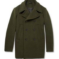 Jil Sander Melton Wool Peacoat | MR PORTER
