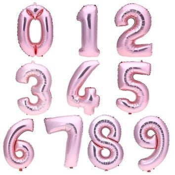 GIANT 32in. PINK NUMBER Balloon-Number Foil Balloon, Rose Gold Party, Number 1 Balloon, Rose Pink Balloon, Number 16 Balloon, First Birthday