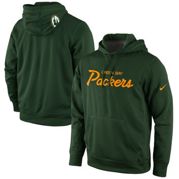 Green Bay Packers Nike Script Pullover Hoodie – Green