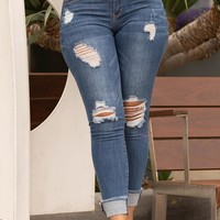 Over The Moon High Waisted Jeans