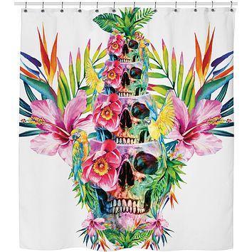 ROSC SKULL TOWER Shower Curtain