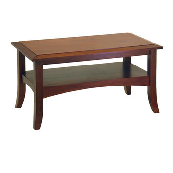 Smart Crafted Wooden Coffee Table with Flare-tip Legs by Winsome Woods