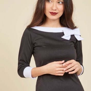 Roma Ready Top in Black | Mod Retro Vintage Short Sleeve Shirts | ModCloth.com