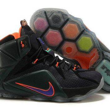 men shoes casual sneakers Lebron XII 12 Cave Purple Hyper Grape Hyper Crimson Hyper Turquoise 684593 583 Brand sneaker