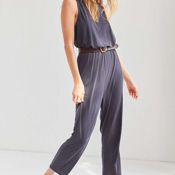 Silence + Noise Cupro Surplice-Back Jumpsuit - Urban Outfitters