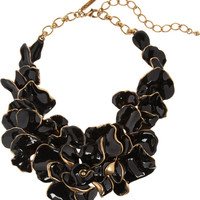 Oscar de la Renta | 22-karat gold-plated enameled necklace | NET-A-PORTER.COM