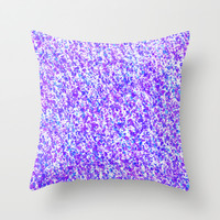 Blue and Purple Inky Splashes Abstract Throw Pillow by Tigerlynx
