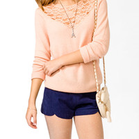 Lace Panel Sweater