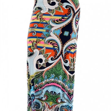 Grand Cayman Maxi Skirt - Coral