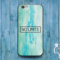 iPhone 4 4s 5 5s 5c 6 6s plus iPod Touch 4th 5th 6th Generation Green Teal Turquoise No Limits Quote Cute Life Phone Cover Girly Girl Case