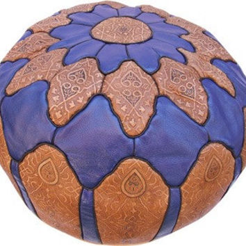 Moroccan Pouf leather Pouf Ottoman Poof Pouffe pouffes Footstool beanbag hassock camel leather