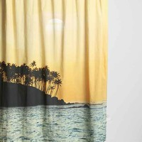 Magical Thinking Sunset Beach Shower Curtain- Yellow One