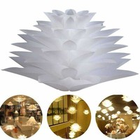 DIY Lotus Chandelier IQ Pendant Lampshade Suspension Ceiling Pendant Chandelier Light Shade Lamp For Holiday Decor Lighting