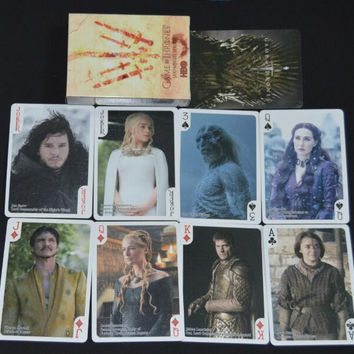 Game of Thrones poker cards as collection playing card set related stage photo song of fire and ice novelty poker deck present