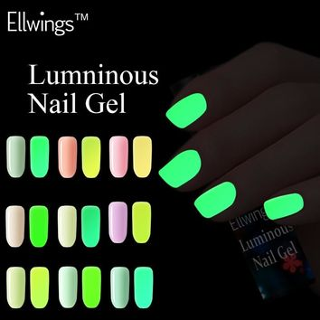 Ellwings Glow In Dark Fluorescent Neon Luminous Uv Nail Gel 20 Colors Soak Off Gel Varnish Lighting In Night Gel Nail Polish