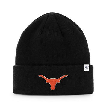 NCAA Texas Longhorns '47 Raised Cuff Knit Hat, Black, One Size