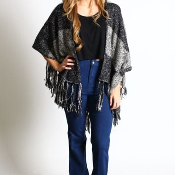 Salt and Peppered Draped Cardigan