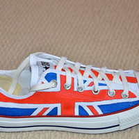 Union Jack on Converse All Stars - Adult size