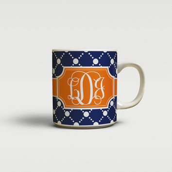 Preppy dot pattern - Gifts for her - Coffee mug or cup
