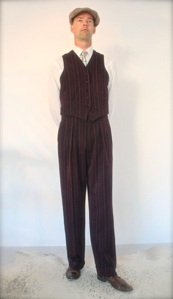 May 26th Suit Up Swing Style: 1940's Mens Pants, 1930's High From SunnySideCouture On