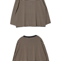 Loose Stripe Pattern Pullover