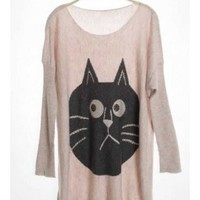 Bat Wing Women Blends Pink Sweater One Size YL938596 from efoxcity