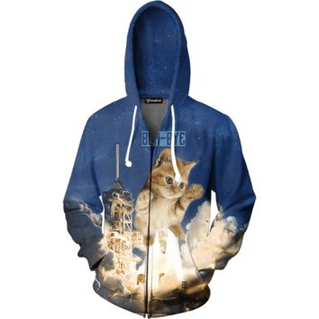 Kitty Rocket Zip Up Hoodie