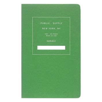 "5 x 8"" Dot Grid or Ruled Notebook Green 02"