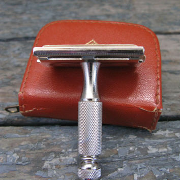 Vintage Gillette Travel Safety Razor, Vintage Razor, Vintage Gillette, Travel Razor