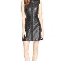 Women's MARC BY MARC JACOBS Zip Front Sleeveless Mini Dress,