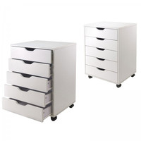 "5 Drawer Halifax Cabinet (White) (26.3""H x 19.21""W x 15.98""D)"