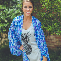 Pineapple Graphic Tank in Grey