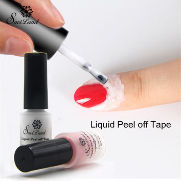 Saviland 1pcs Finger Skin Protected Glue White Peel Off Liquid Tape Cream Nail Art Polish for Easy Clean Nails Polish