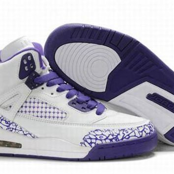 Hot Air Jordan 3.5 Spizike Retro Women Shoes White Purple