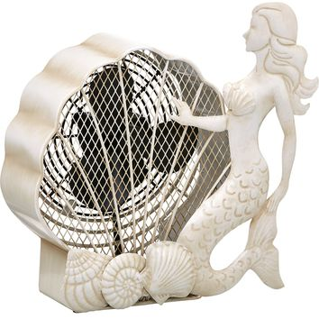 Mermaid Figurine Table Fan