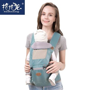 Baobaolong 2017 New Design Baby Carrier Hipseat Baby Stool Breathable Backpacks Cotton Sling Wrap Baby Carrier Front Backpack