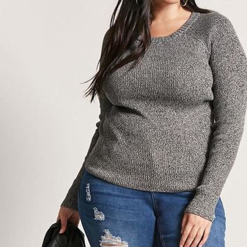 Plus Size Marled Knit Sweater