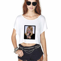 Taylor Swift shake it off Crop Shirt , Custom Crop Shirt , Woman Crop Shirt