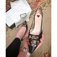 GUCCI Fashion casual high heeled shoes