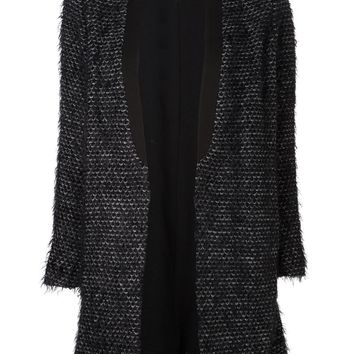 Tibi furry tweed cardigan
