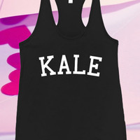 Kale Screenprint For Tank top women and men unisex adult