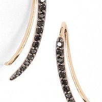 Women's kismet by milka 'Lumiere' Diamond Ear Crawlers - Black Diamond/ Rose Gold